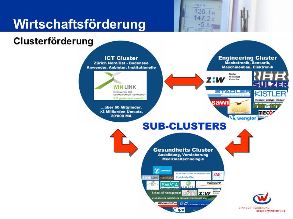 SUB-CLUSTERS Wirtschaftsförderung Clusterförderung