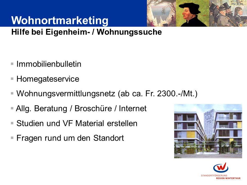 Immobilienbulletin Homegateservice Wohnungsvermittlungsnetz (ab ca.