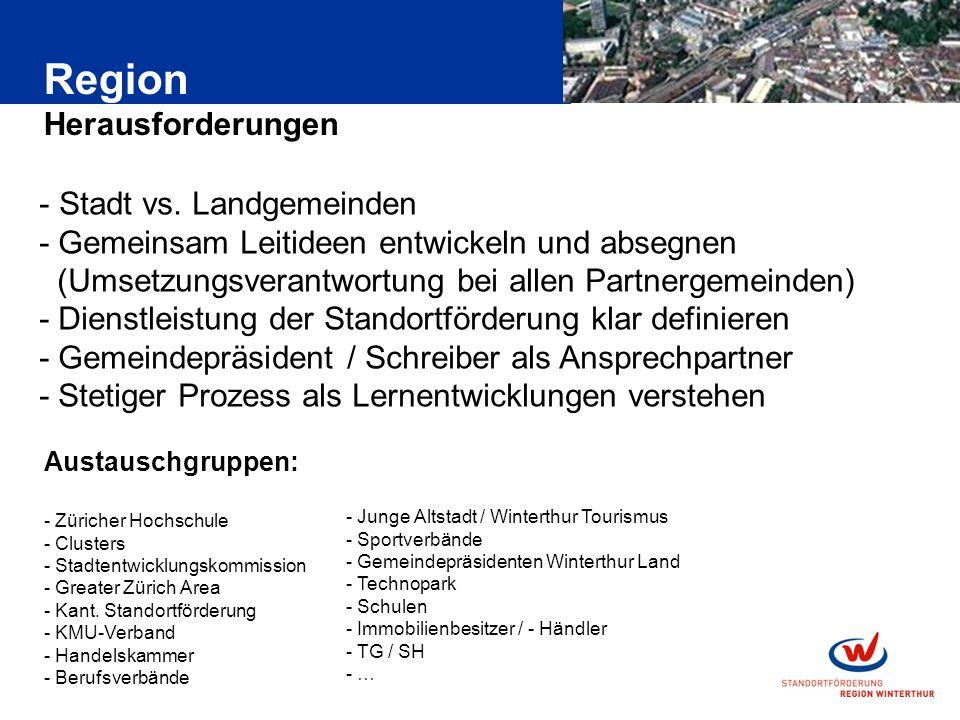 Region Herausforderungen - Stadt vs.