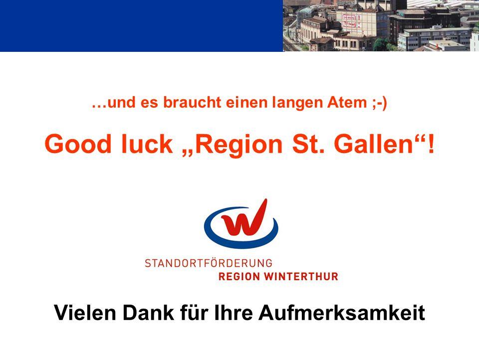…und es braucht einen langen Atem ;-) Good luck Region St.