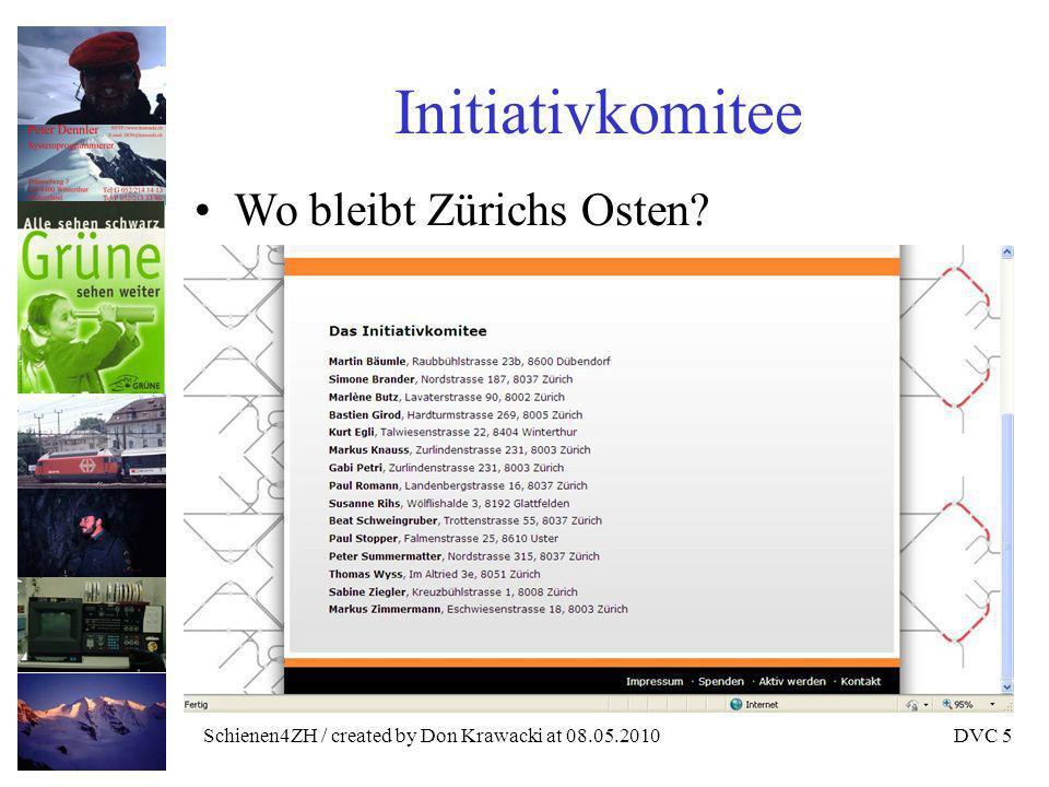 Schienen4ZH / created by Don Krawacki at 08.05.2010DVC 6 Missachtung des Volkswillens Bahn 2000 Volksabstimmung vom 6.