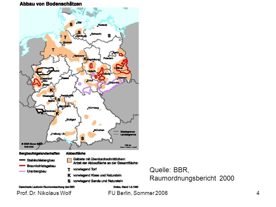 Prof. Dr. Nikolaus WolfFU Berlin, Sommer 200625