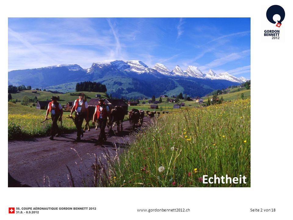 Seite 2 von 18www.gordonbennett2012.ch Echtheit