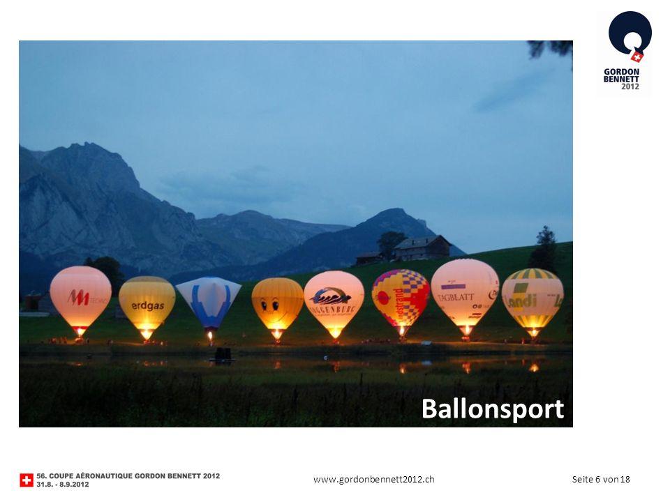 Seite 6 von 18www.gordonbennett2012.ch Ballonsport