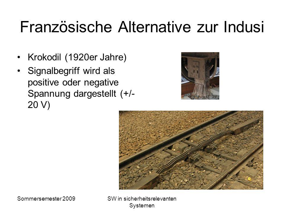 Sommersemester 2009SW in sicherheitsrelevanten Systemen Sicherungsstufen PZB/Indusi 500-Hz-Magnete 250 bis 150 m vor Hauptsignalen, die besondere Gefa