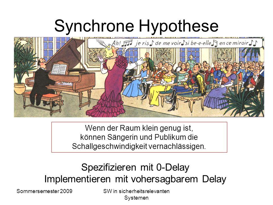 Sommersemester 2009SW in sicherheitsrelevanten Systemen Grundlagen synchroner Programmierung Gut geeignet für Regelungen und Endliche Automaten Eingab