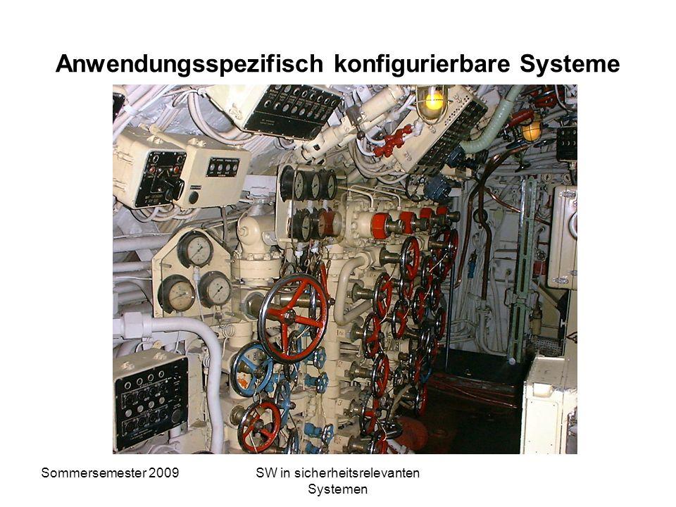 Sommersemester 2009SW in sicherheitsrelevanten Systemen Verifikation und Validation Verifikation: Analyse und Testen um festzustellen, ob das Ausgangs