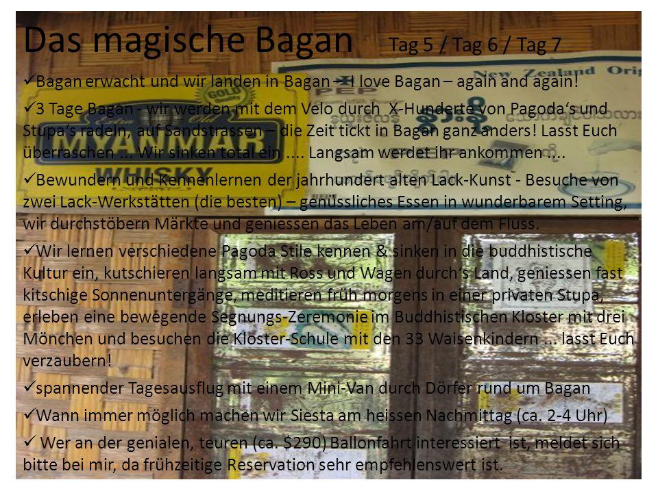 Das magische Bagan Tag 5 / Tag 6 / Tag 7 Bagan erwacht und wir landen in Bagan – I love Bagan – again and again.
