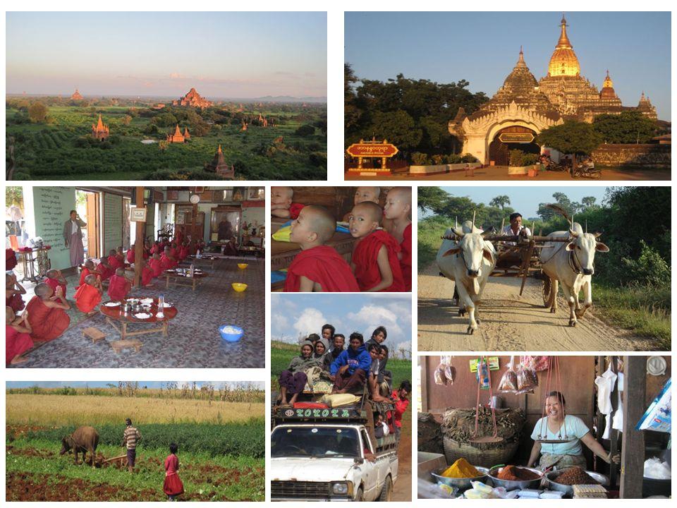 Fahrt nach Kalaw Tag 8 Abschied Bagan, früher Flug nach Heho – Ankunft ins wundervolle SHAN Gebiet Zauberhafte Tagesfahrt mit dem Mini-Van durch die Agrar Landschaft.