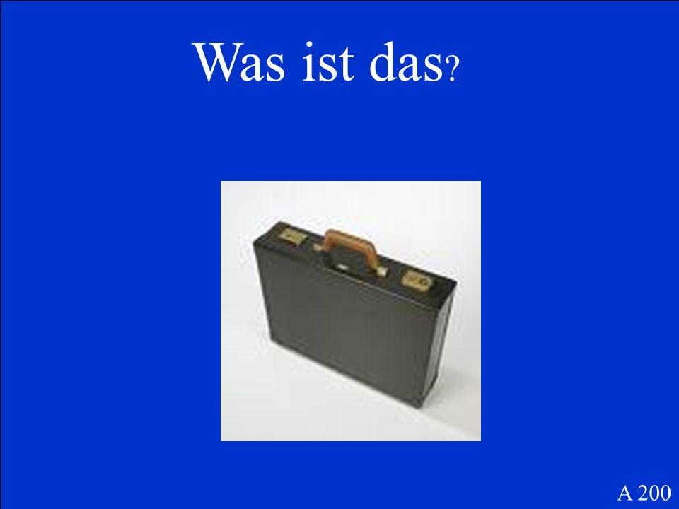 Was ist.... ein Koffer? A 100