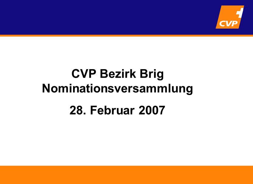 Tätigkeitsbericht Nationalrätin Viola Amherd CVP Bezirk Brig Nominationsversammlung 28.
