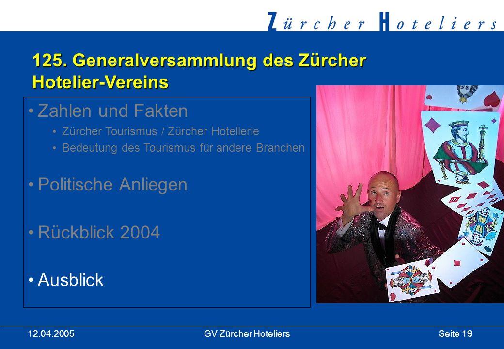Seite 19GV Zürcher Hoteliers 12.04.2005 125.