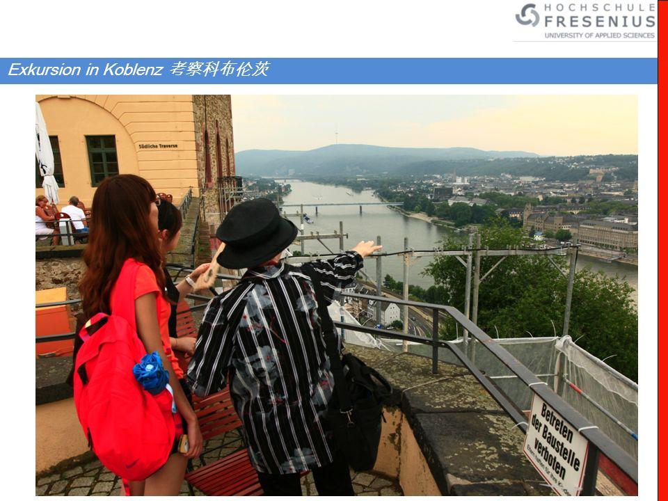 Exkursion in Koblenz