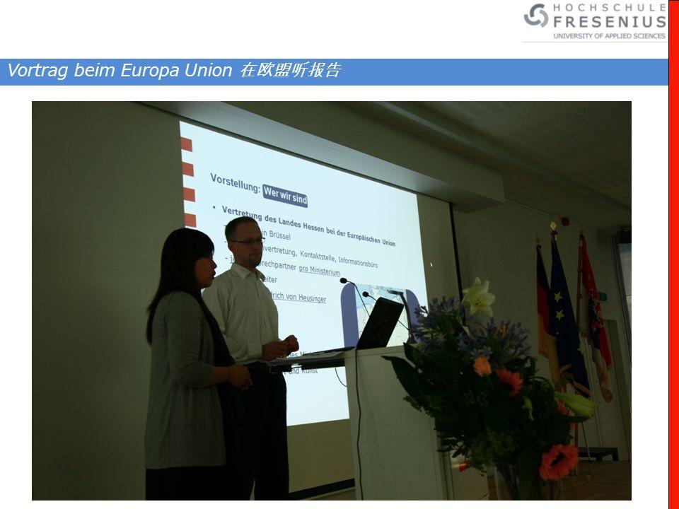 Vortrag beim Europa Union
