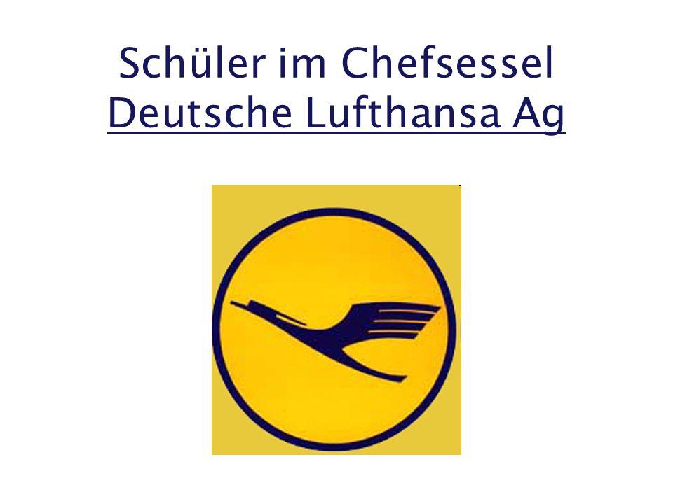 Schüler im Chefsessel Deutsche Lufthansa Ag