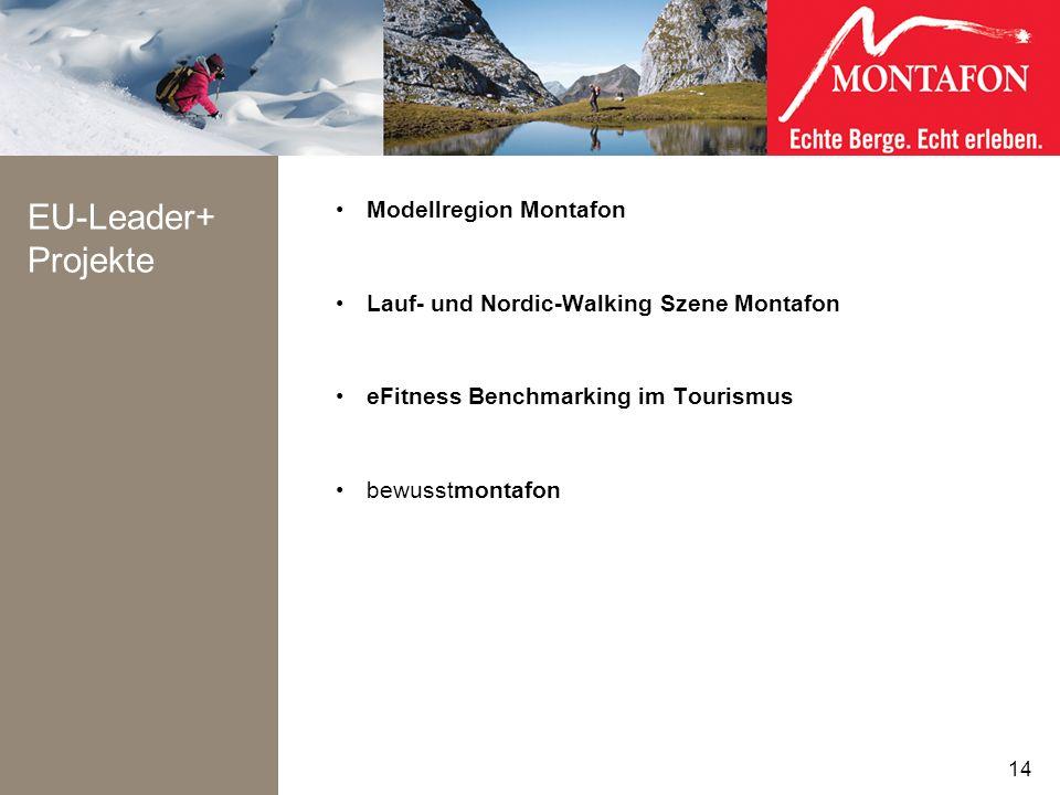 EU-Leader+ Projekte Modellregion Montafon Lauf- und Nordic-Walking Szene Montafon eFitness Benchmarking im Tourismus bewusstmontafon 14