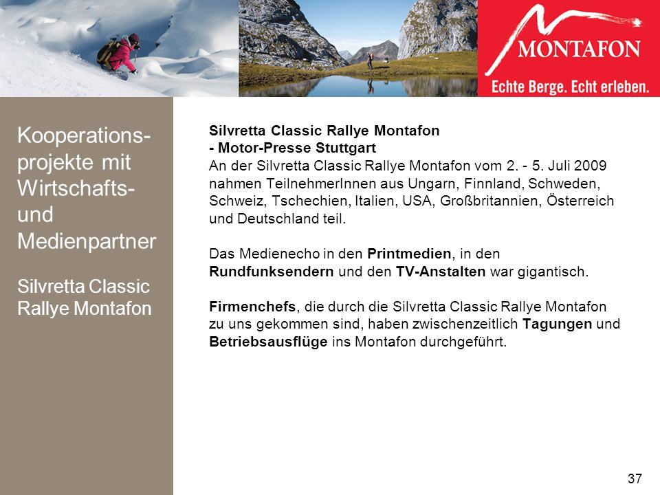 Kooperations- projekte mit Wirtschafts- und Medienpartner Silvretta Classic Rallye Montafon Silvretta Classic Rallye Montafon - Motor-Presse Stuttgart