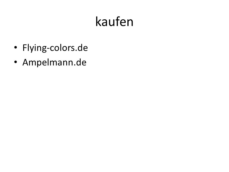 kaufen Flying-colors.de Ampelmann.de