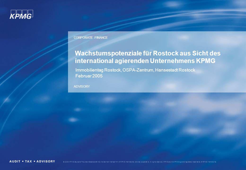 CORPORATE FINANCE ADVISORY © 2005 KPMG Deutsche Treuhand-Gesellschaft AG, the German member firm of KPMG International, a Swiss cooperative. All right