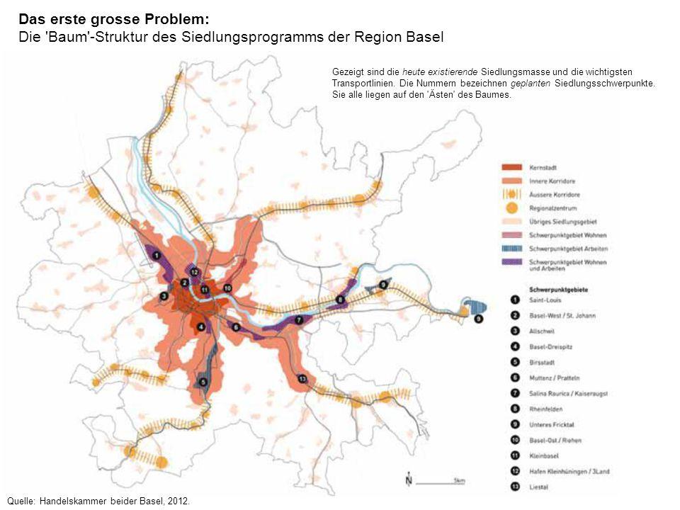 Das heutige Beziehungspotentialbild der Region Basel Beziehungspotentiale: rot = höchste Werte, hellgrau = niedrigste Werte © PD Dr.