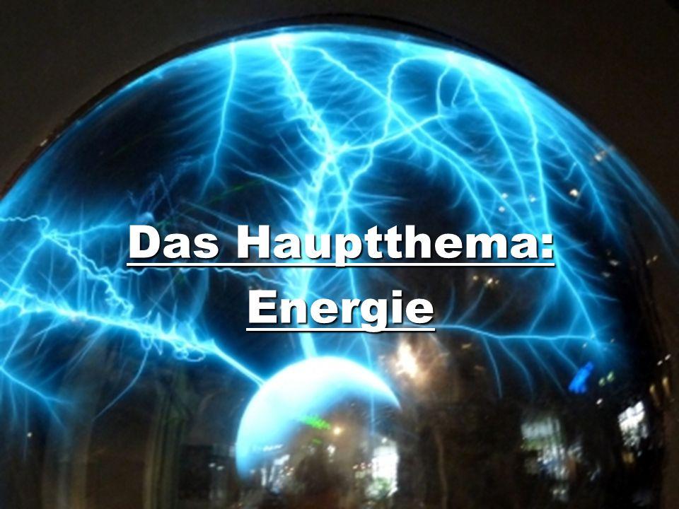 Das Hauptthema: Energie