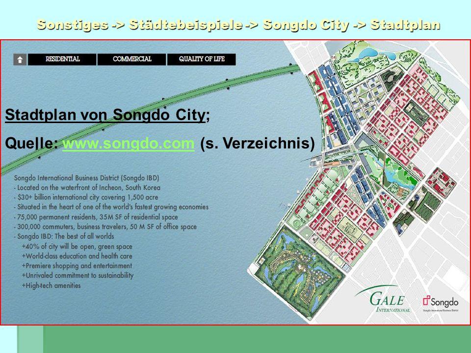 Sonstiges -> Städtebeispiele -> Songdo City -> Stadtplan Stadtplan von Songdo City; Quelle: www.songdo.com (s. Verzeichnis)www.songdo.com