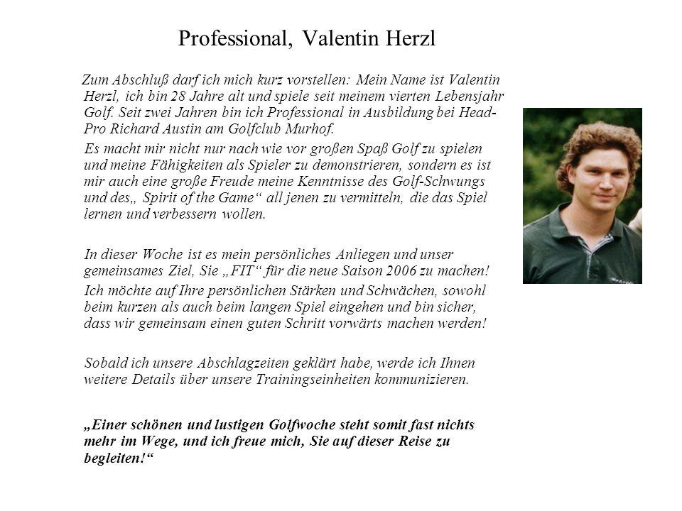 Professional, Valentin Herzl Zum Abschluß darf ich mich kurz vorstellen: Mein Name ist Valentin Herzl, ich bin 28 Jahre alt und spiele seit meinem vie