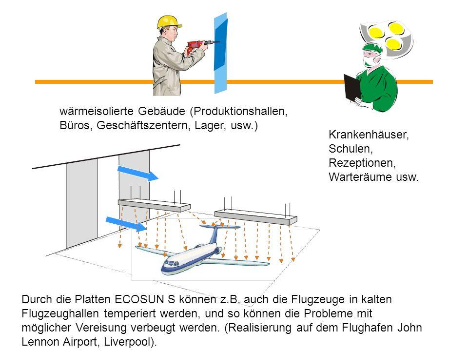 Die Strahlplatten ECOSUN lösen z.B. auch das Problem der separierten kalten Stellen und der isolierten Arbeitsumgebung. Eine schonende Heizungsweise o
