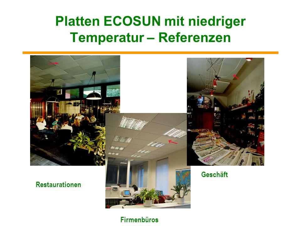 Hochtemperaturplatten ECOSUN S - Referenzen Produktionshalle Verkaufshalle Galerie Prager Burg