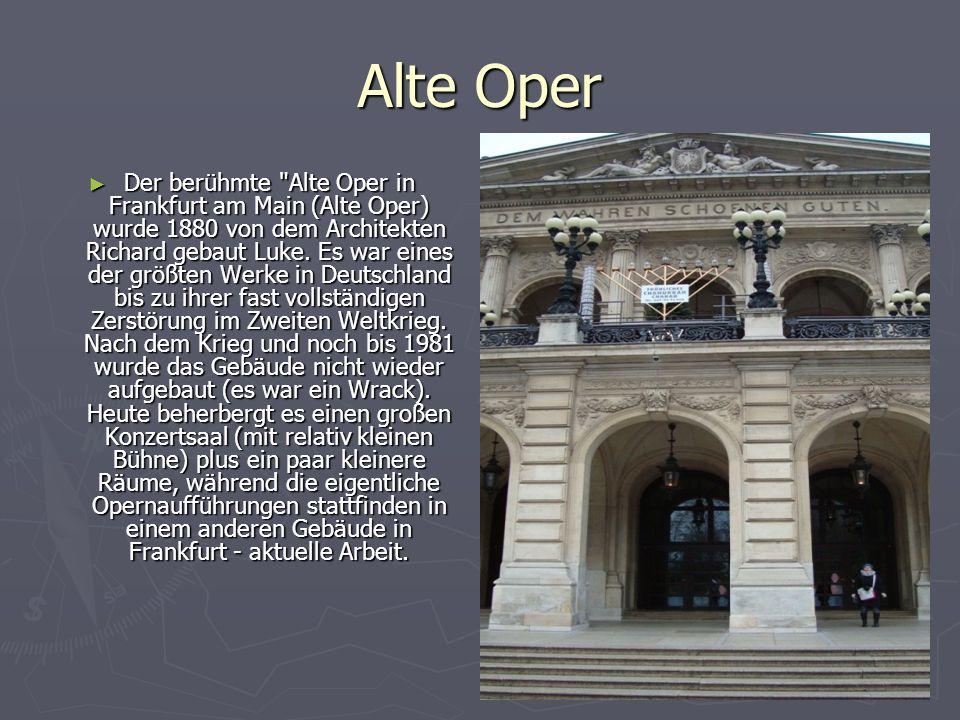Alte Oper Der berühmte