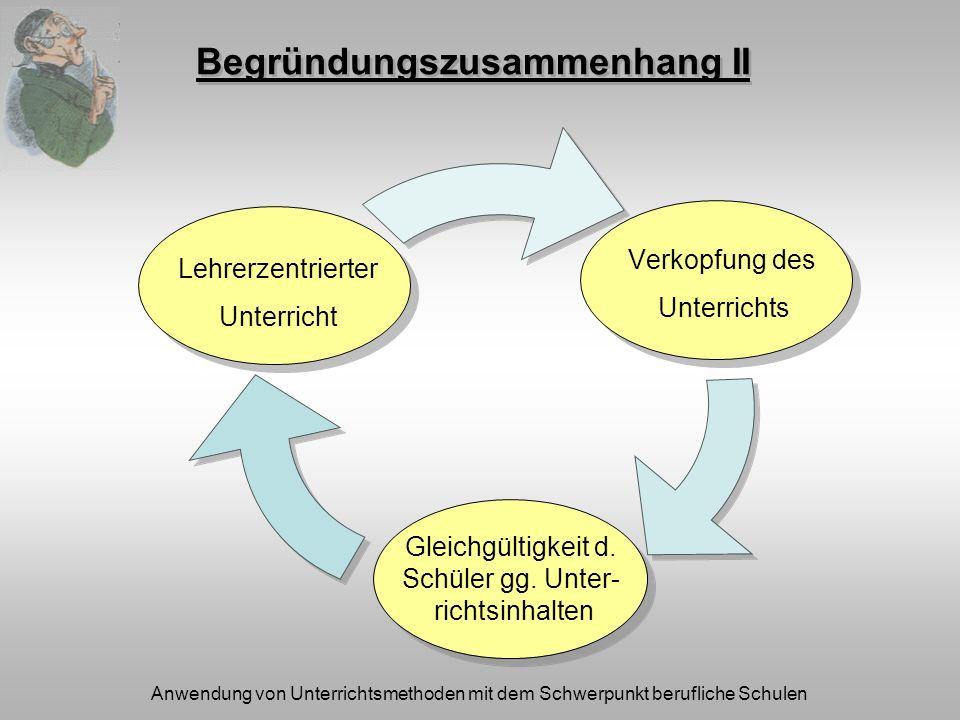 Anwendung von Unterrichtsmethoden mit dem Schwerpunkt berufliche Schulen Literatur Bönsch, M.
