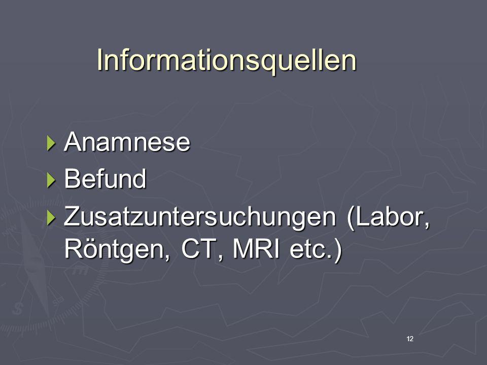 13Anamnese Familienanamnese Familienanamnese Eigenanamnese Eigenanamnese Orthopädische Anamnese Orthopädische Anamnese Funktionelle Anamnese - Tagesablauf Funktionelle Anamnese - Tagesablauf
