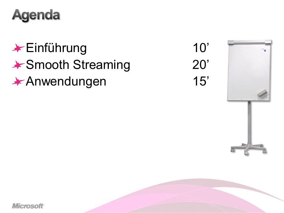Einführung10 Smooth Streaming20 Anwendungen15
