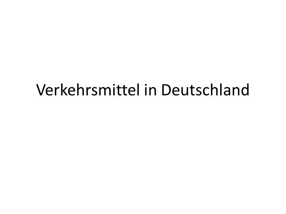 Verkehrsmittel in Deutschland