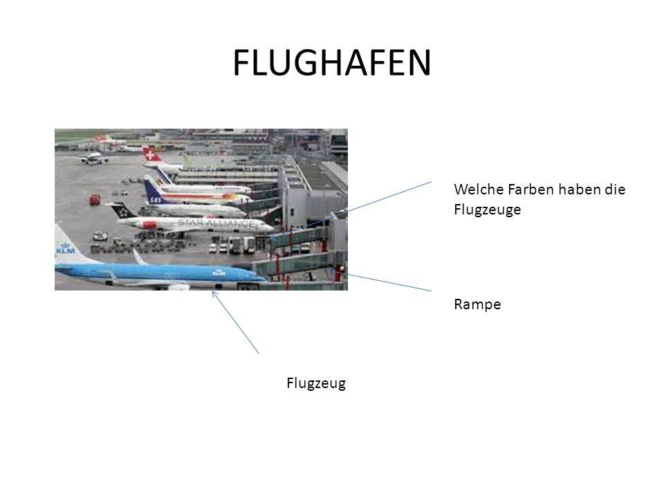 FLUGHAFEN Flugzeug Rampe Welche Farben haben die Flugzeuge