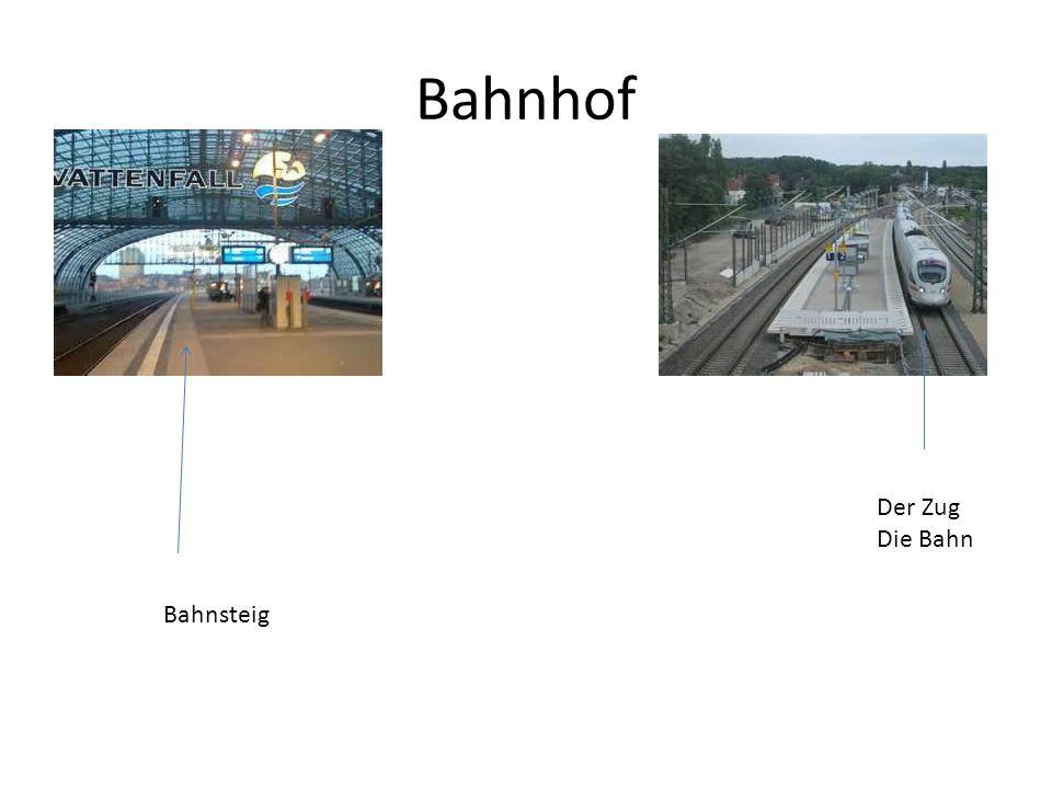 Bahnhof Bahnsteig Der Zug Die Bahn