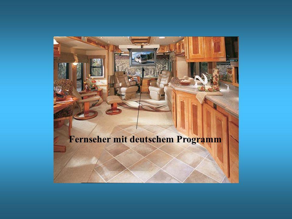 Fernseher mit deutschem Programm