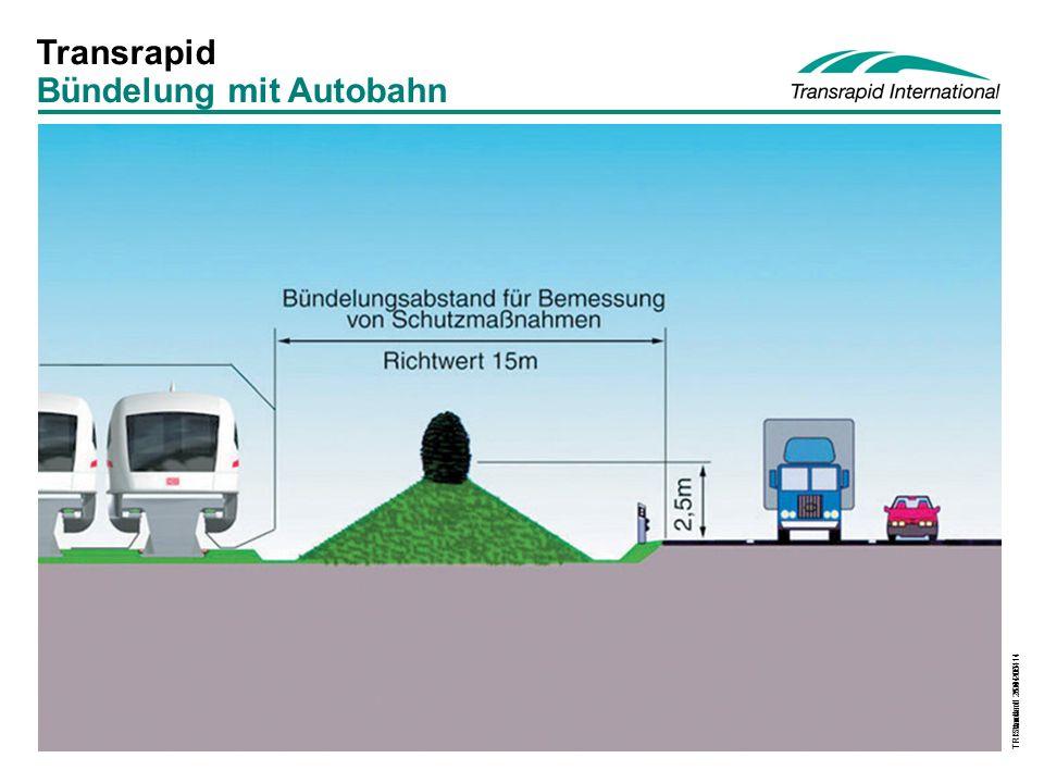 TRI Standard 2004-05-14 Transrapid Bündelung mit Autobahn TR Standard 26.4.2001