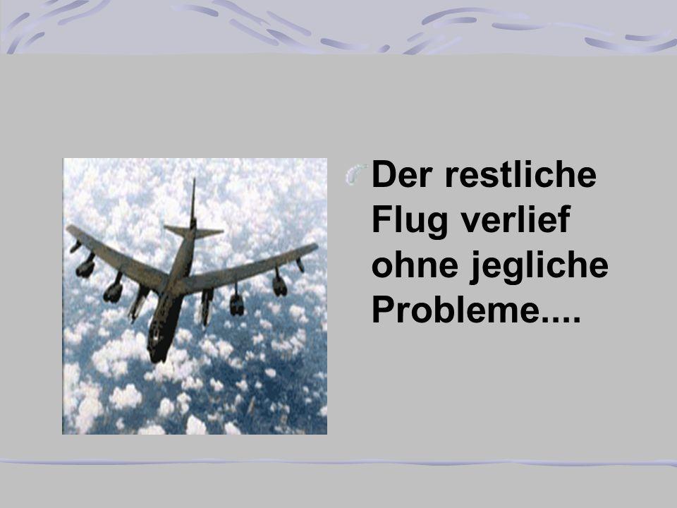Der restliche Flug verlief ohne jegliche Probleme....