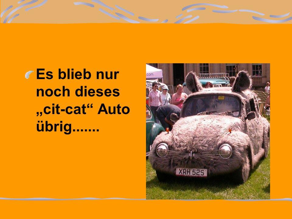 Es blieb nur noch dieses cit-cat Auto übrig.......