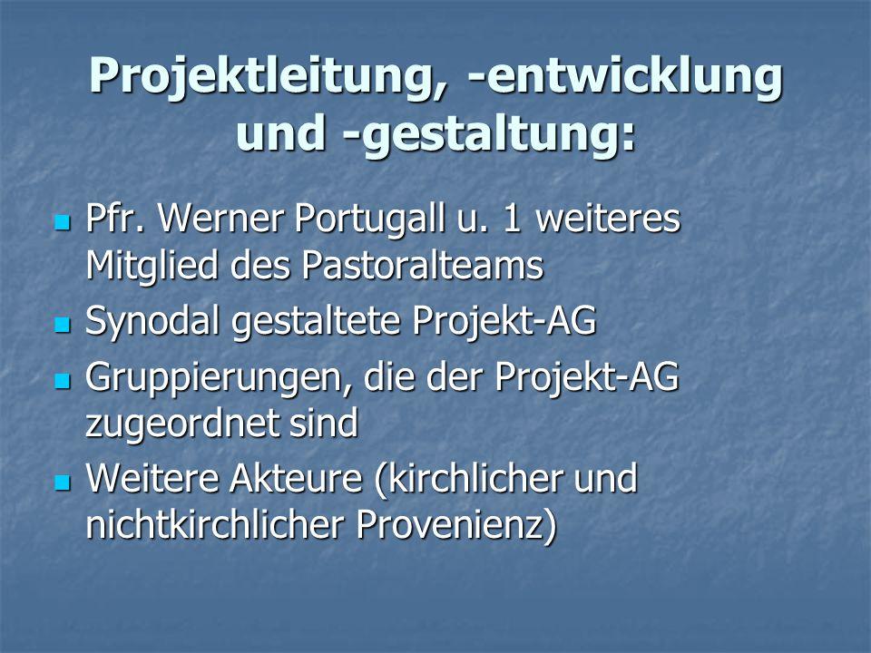Projektleitung, -entwicklung und -gestaltung: Pfr.
