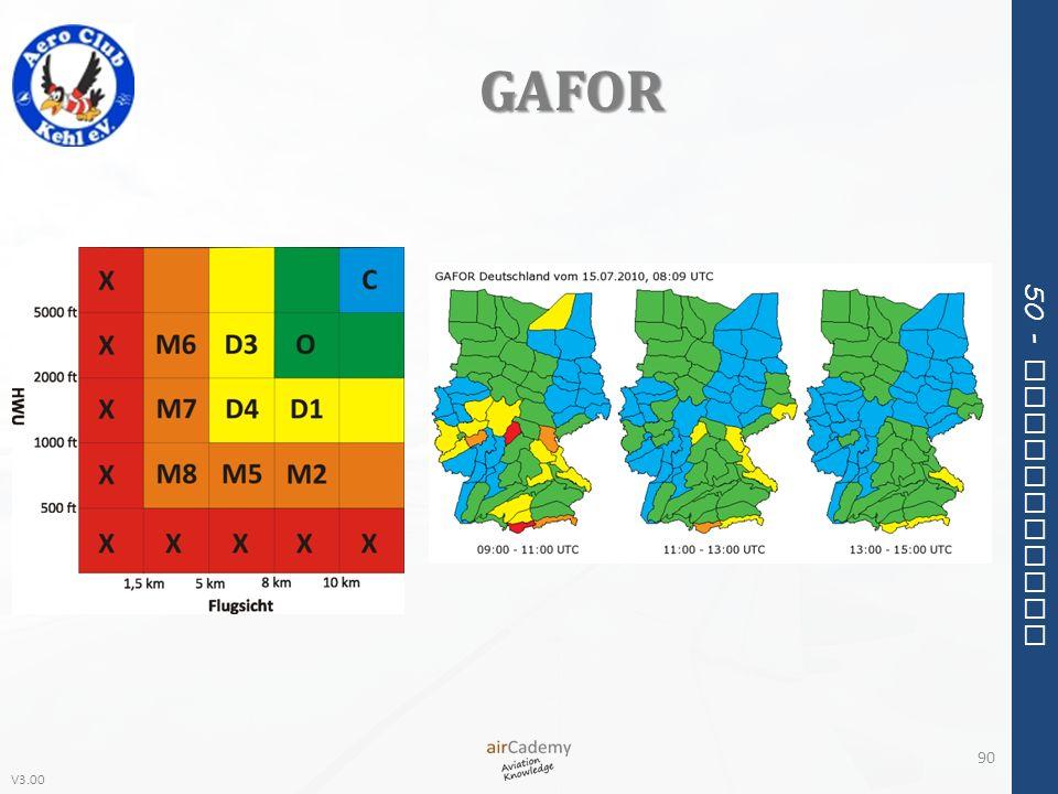 V3.00 50 - Meteorology GAFOR 90