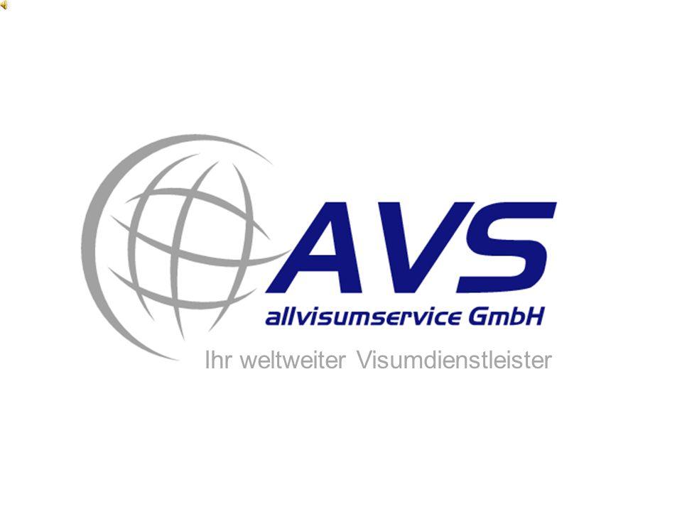 Ihr weltweiter Visumdienstleister