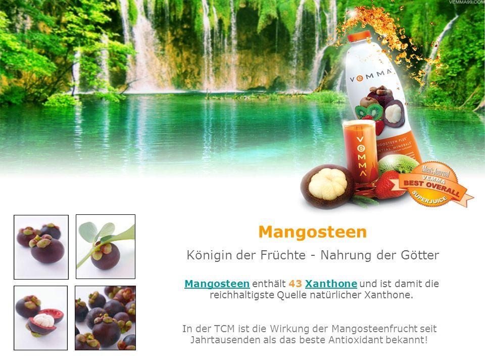 Mangosteen Königin der Früchte - Nahrung der Götter MangosteenMangosteen enthält 43 Xanthone und ist damit die reichhaltigste Quelle natürlicher Xanth