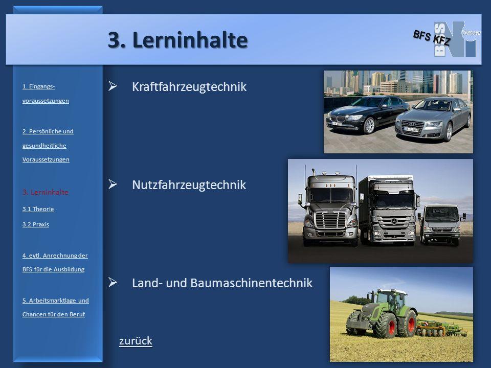 3.2 Autos 1.Eingangs- voraussetzungen 2. Persönliche und gesundheitliche Voraussetzungen 3.