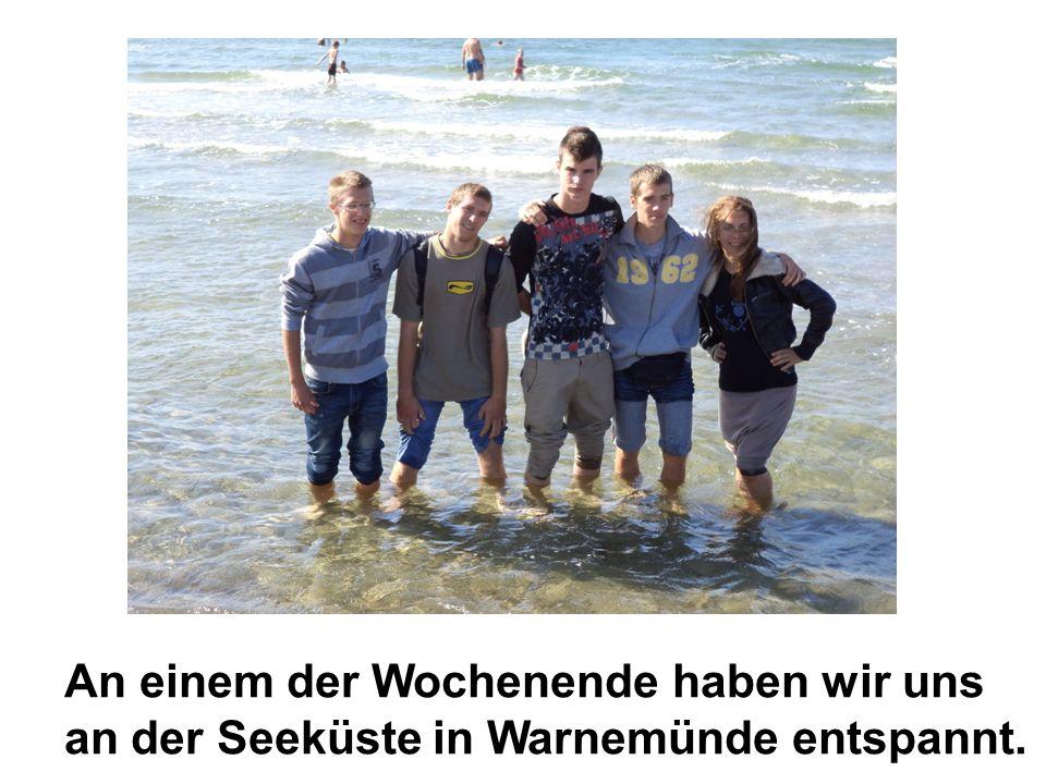 An einem der Wochenende haben wir uns an der Seeküste in Warnemünde entspannt.