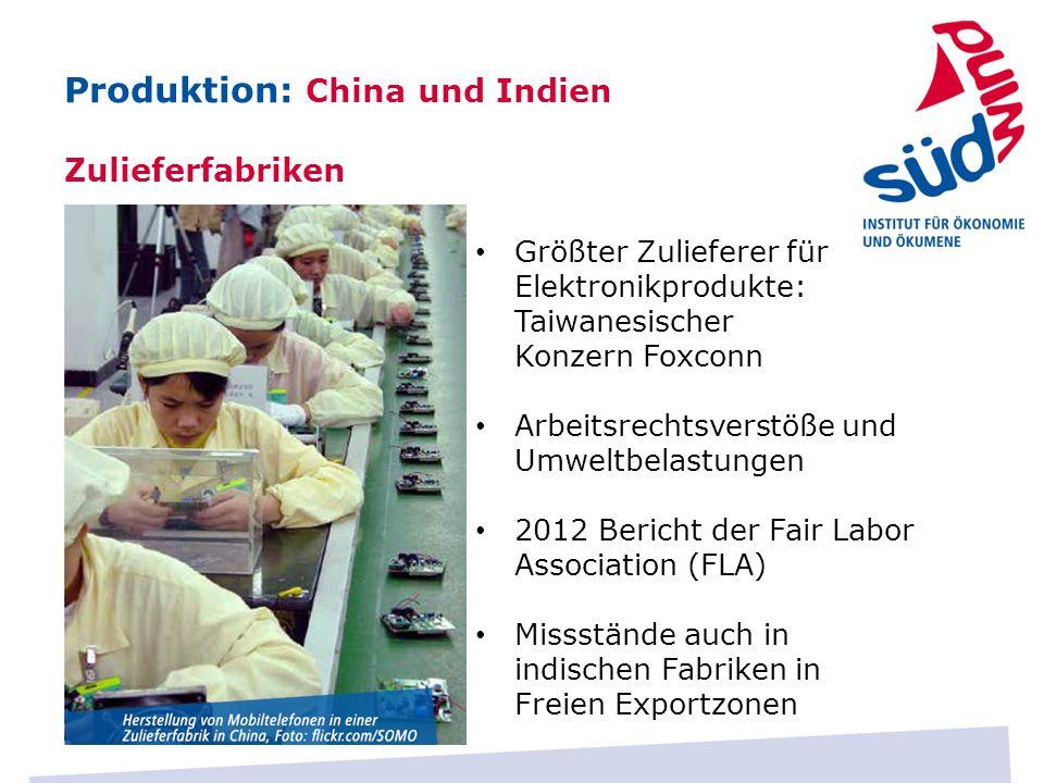 Größter Zulieferer für Elektronikprodukte: Taiwanesischer Konzern Foxconn Arbeitsrechtsverstöße und Umweltbelastungen 2012 Bericht der Fair Labor Asso