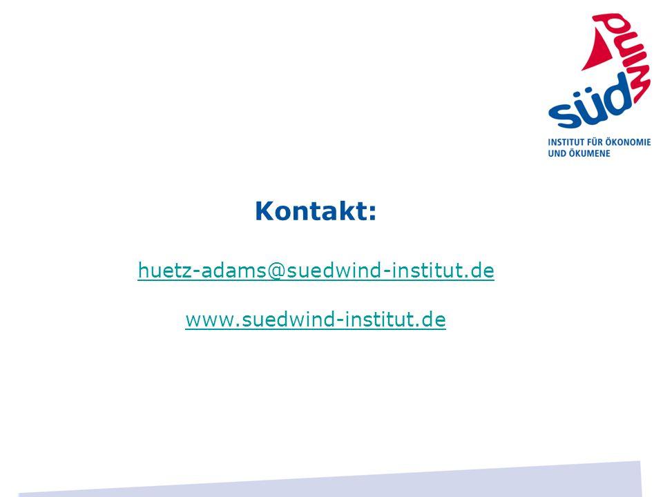 Kontakt: huetz-adams@suedwind-institut.de www.suedwind-institut.de