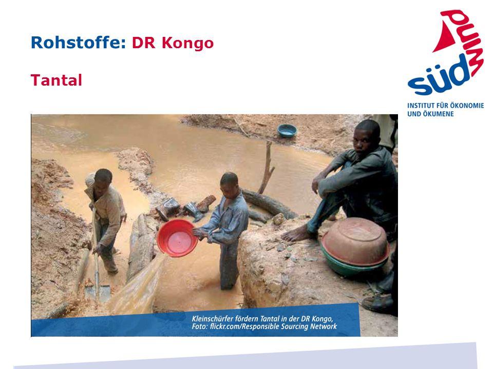 Rohstoffe: DR Kongo Tantal