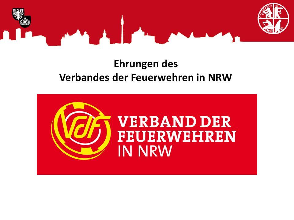 Ehrungen des Verbandes der Feuerwehren in NRW